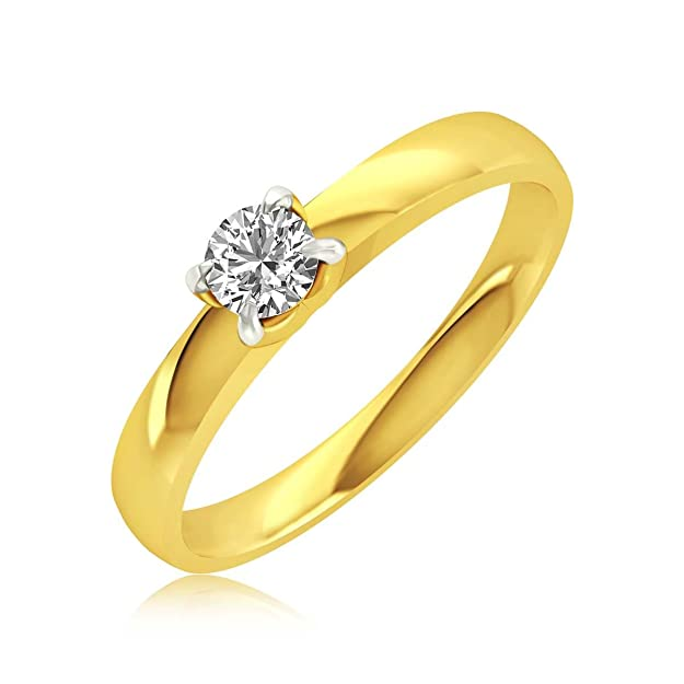 Rockrush 18KT Yellow Gold and Diamond Ring for Women Rings