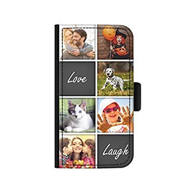 new style 64801 05188 Hairyworm - Personalised 6 Image Collage with Love Laugh Sony Xperia L1  leather side flip wallet phone case, phone cover with card slots, money  slot, ...