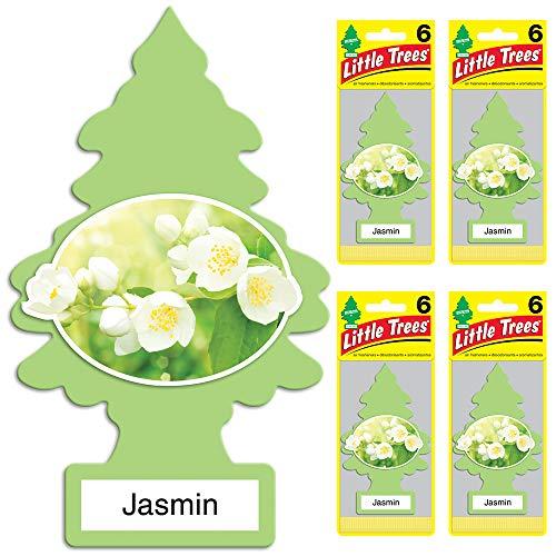 Little Trees auto air freshener, Jasmin, 6-packs (4 count)