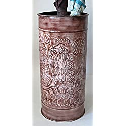 Excellent Accents Owl Umbrella Stand Embossed
