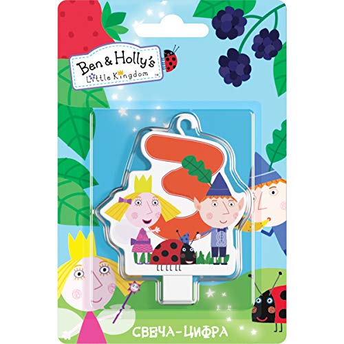 Ben & Holly's Little Kingdom Сandle on a Cake Topper 3 Years Must Have Accessories for the Party Supplies and Birthday ()