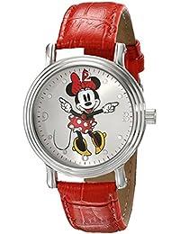 Women's W001877 Minnie Mouse Analog Display Analog Quartz Red Watch
