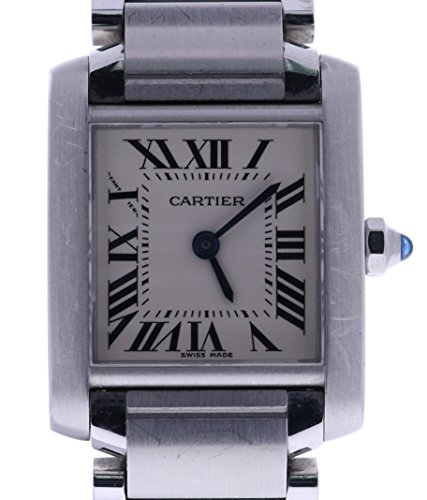 Cartier Tank Francaise analog-quartz womens Watch 2384 (Certified Pre-owned)