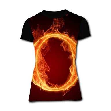 eb4052f12 Leallrou Burning Zero Women's T-Shirt Graphic 3D Printed Short Sleeve T Shirt  Tops Tees