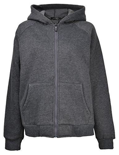 ZLYC Fleece Hoodie Sweatshirt Pockets