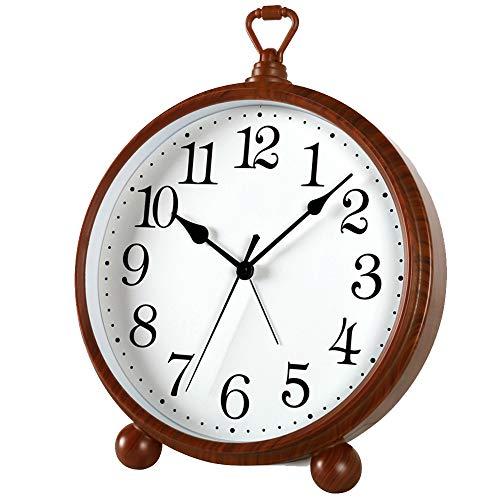 Mantle/Desk Clock Living Room Creative Desk Decoration Mute Clock Digital Clocks, Red, 26×20.3cm