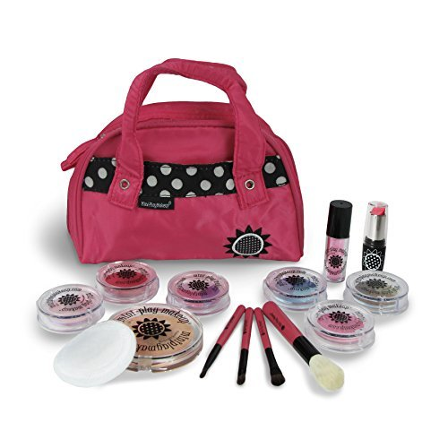 Mini Play Pretend Makeup: Deluxe Pretend Cosmetics kit- Pink