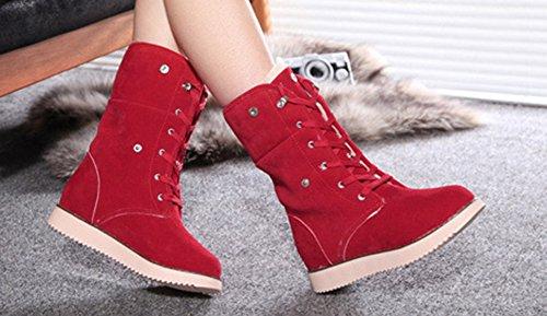 Original Chaussures Mollet Hiver Rouge De Aisun Bottes Femme CwU655