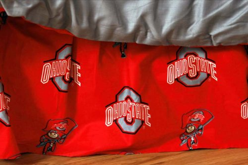 College Covers Ohio State Buckeyes Printed Dust Ruffle - Full