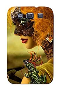 Hot Masked Woman First Grade Tpu Phone Case For Galaxy S3 Case Cover