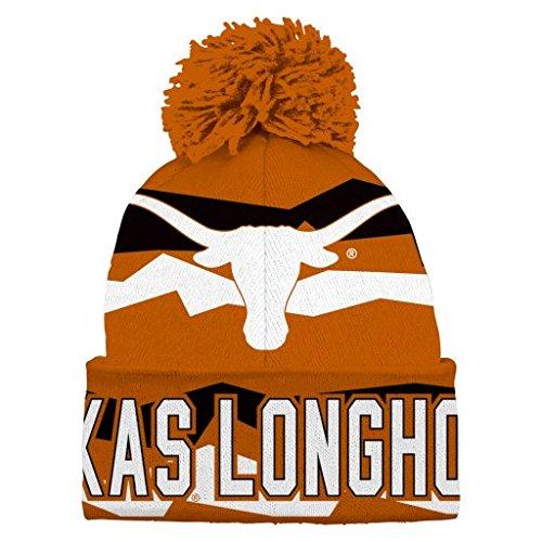 Texas Longhorns Beanie - NCAA Youth Boys 8-20 Texas Longhorns Cuffed Knit w/Pom Hat, 1S