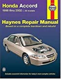 img - for Honda Accord 1998-2002: All Models (Haynes Repair Manuals) by Jay Storer (2005-06-24) book / textbook / text book