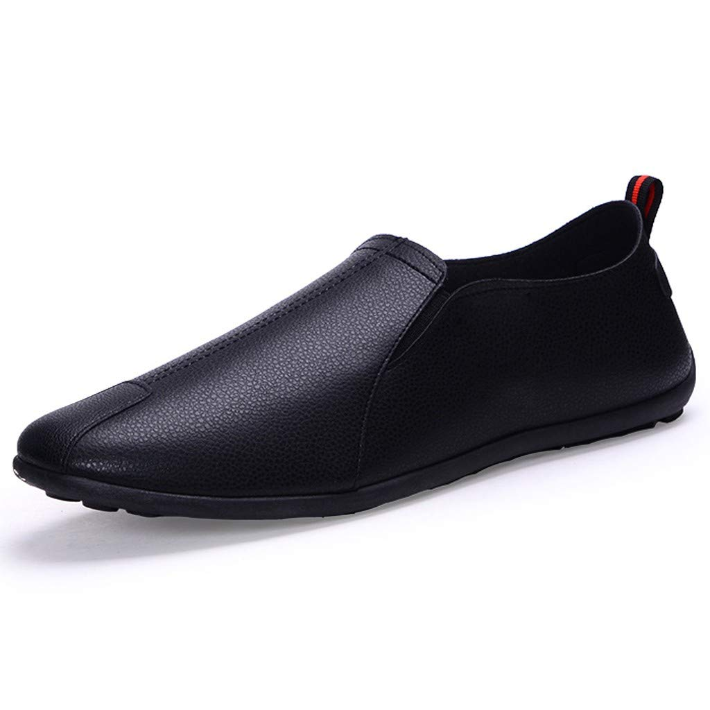 58fc3dccc27c Amazon.com  Men s Leather Dress Shoes Slip On Breathable Driving Boat  Loafer Shoes  Sports   Outdoors