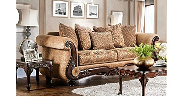 Fine Amazon Com Furniture Of America Sm7501 Sf Myron Sofa Red Squirreltailoven Fun Painted Chair Ideas Images Squirreltailovenorg