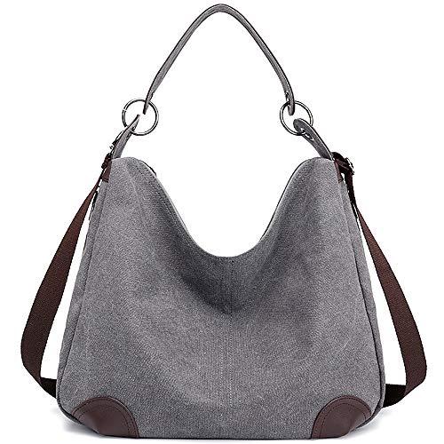 Canvas Handbag, JuguHoovi Casual Shoulder Bags, Hobo Purse Top Handle Handbags Crossbody Bags for Women