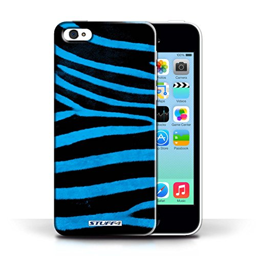 Case für Apple iPhone 5C / Blau Entwurf / Zebra Tier Haut/Print Collection