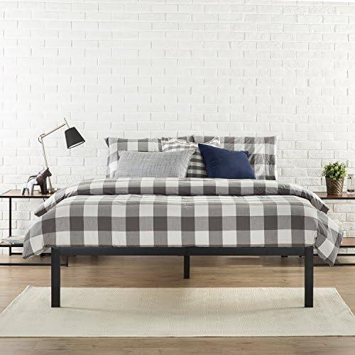 Zinus Mia Modern Studio 14 Inch Platform 1500 Metal Bed Frame / Mattress Foundation / No Box Spring Needed / Wooden Slat Support / Good Design Award Winner / Black, Queen 5145zilhZcL
