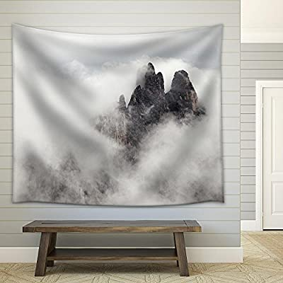 High Mountain Cliffs in The Dolomites Fabric Wall, That's 100% USA Made, Beautiful Object of Art