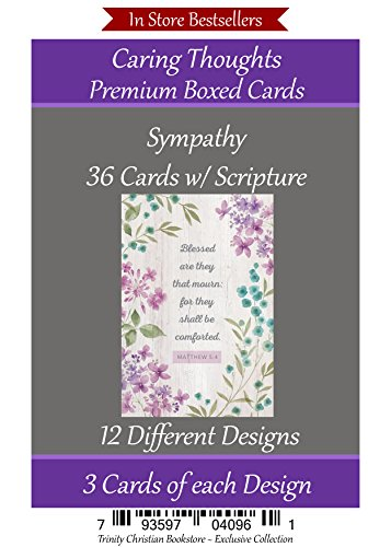 Sympathy Cards Premium 36 count Christian / Religious Greeting Card Assortment
