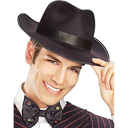 Deluxe Felt Gangster Hat Black
