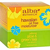 Alba Botanica Hawaiian Oil-Free Moisturizer, Aloe & Green Tea, 3 oz.