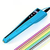 Ipeson 3d Printing Pen, 3D Pen for 3d printing and Drawing with 2 Free PLA filaments,Length 32.8ft/color (Blue)