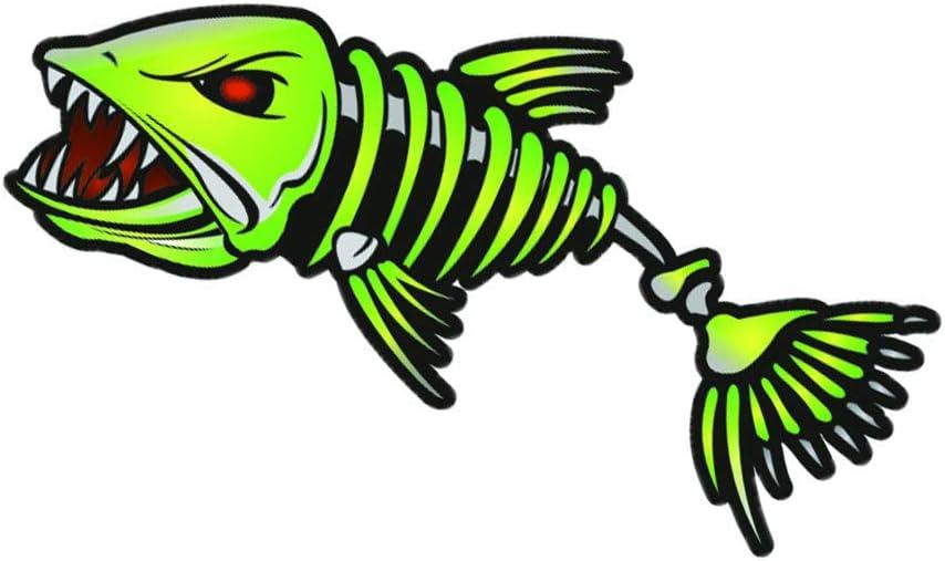 Toygogo 2 unids Pegatina de Barco de Pesca Forma de Pez Esqueleto Etiqueta Decoraci/ón de Pared de Bote Port/átil