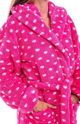 e886257ae4 Alexander Del Rossa Womens Printed Fleece Robe