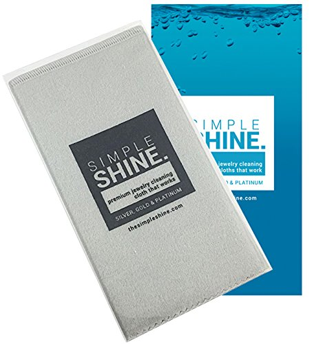 Large Oversized Premium Jewelry Cleaning Cloth | Jewelry Polishing Cloth Cleaner Gold, Silver, Platinum by Simple Shine (Image #5)