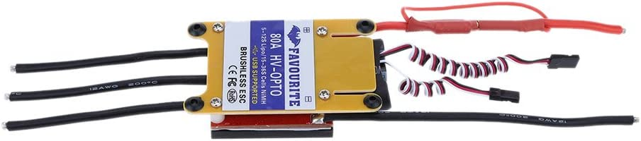 JIMI New Favourite Eagle 80A HV-OPTO 5~12S LiPo Battery High Voltage Airplane Brushless ESC with BLHELI Software for RC Multicopter