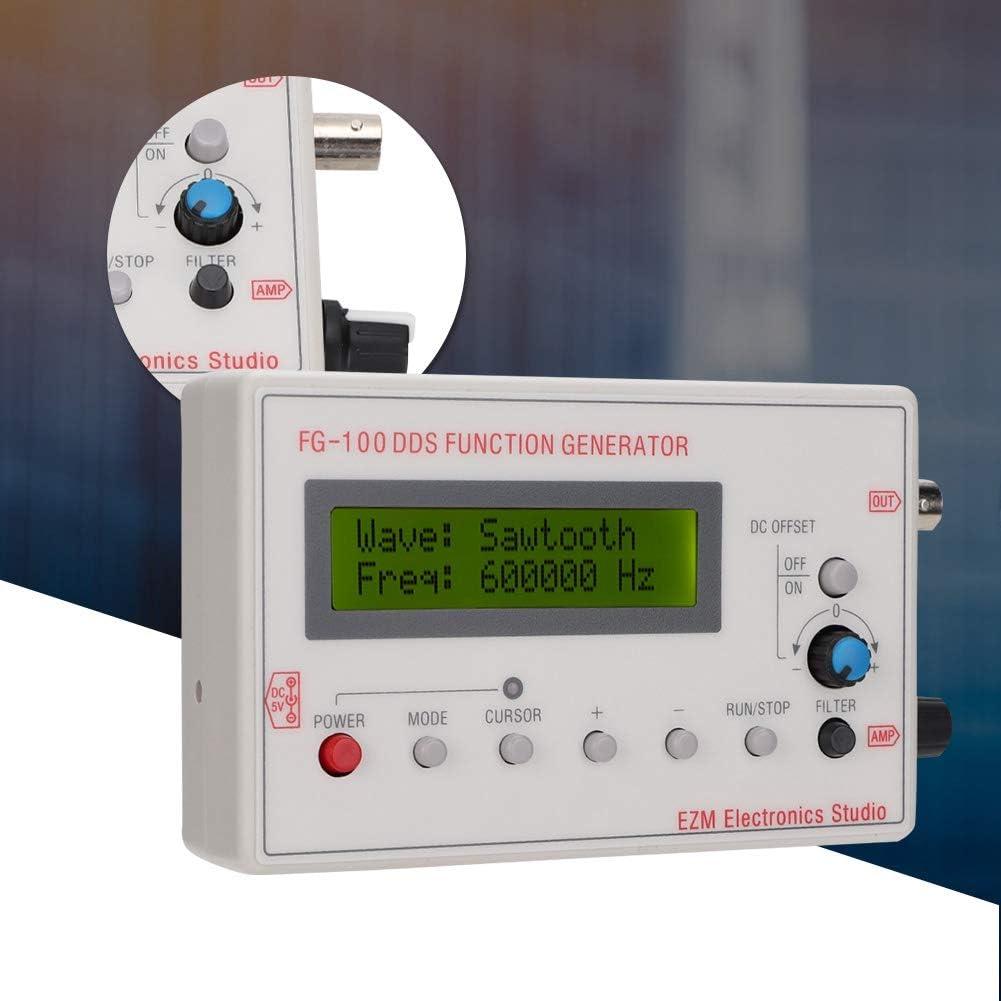 Dreieck ASHATA Tragbare 1HZ-500KHZ DDS Funktionssignalgenerator Frequenzz/ähler FG-100 Sinus S/ägezahn Wellenform DC3.5-10V Netzteil Quadrat