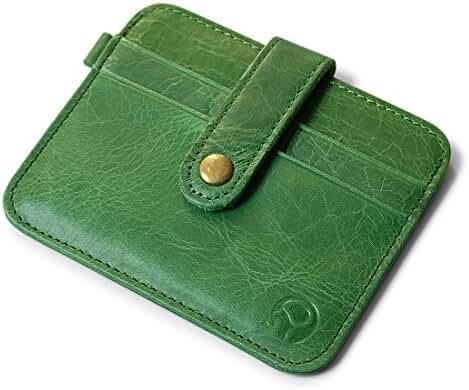 Mens Vintage Genuine Leather Slim Wallet Credit Card Holder Sleeve Case Pouch