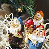 Set of 6 Mini Gnome Figures - Fairy Garden Gnomes - Gnome Figurines, Assorted Colors, 1.7 x 4 x 1.6 Inches