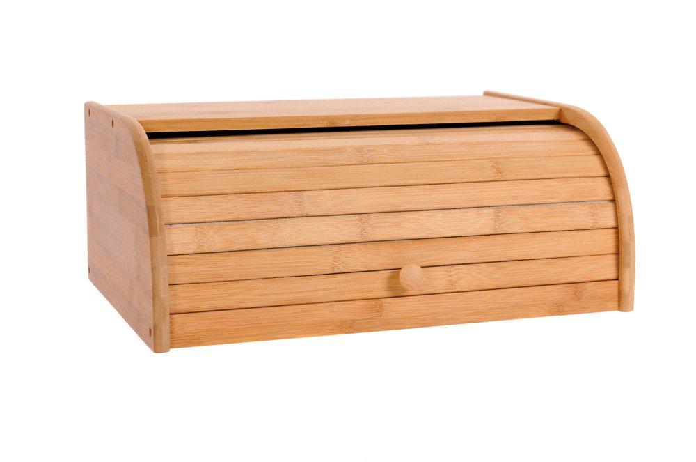 Madera de bamb/ú de pan con almacenaje de la cocina del envase Roll Top de rejilla de la caja de almacenamiento de alimentos