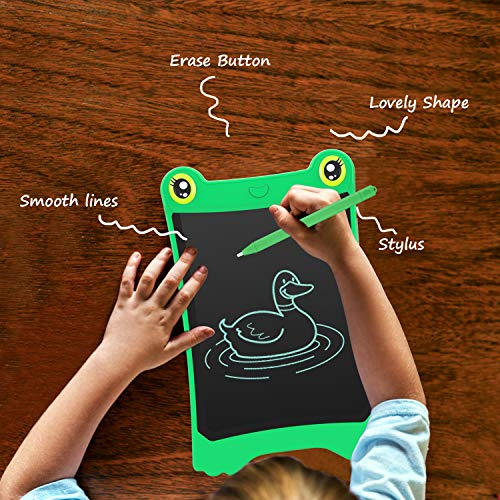 NEWYES 8.5 Inch LCD Writing Tablet Updated Frog Pad Children Electronic Doodle Board Jot Digital E-Writer Kids Scribble Toy with Lock Function Green by NEWYES (Image #2)