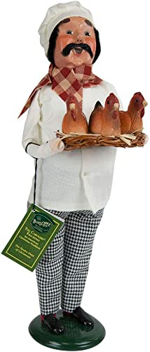 Byers Choice 3 French Hens Chef Caroler Figurine 733 from The 12 Days of Christmas Collection
