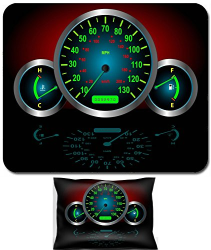 Vector Speedometer - Luxlady Mouse Wrist Rest and Small Mousepad Set, 2pc Wrist Support design Speedometer Fuel Temperature Guages Vector image fully resizable and editable IMAGE: 2986805