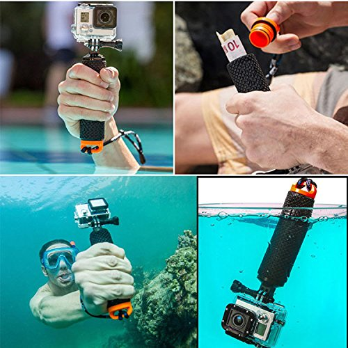 trendy sell lotopop waterproof floating hand grip for gopro hero 5 3 4 session 3 handle mount. Black Bedroom Furniture Sets. Home Design Ideas