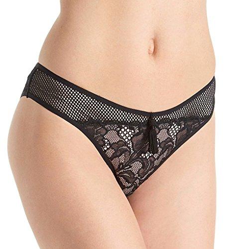 Pour Moi Contradiction No Limits Bikini Brief Panty (42001) 2X/Black/Pink