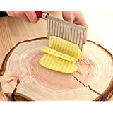 Drhob Potato Wavy Edged Knife Stainless Steel Kitchen Gadget Vegetable Fruit Cutting Peeler Cooking Tool Accessories