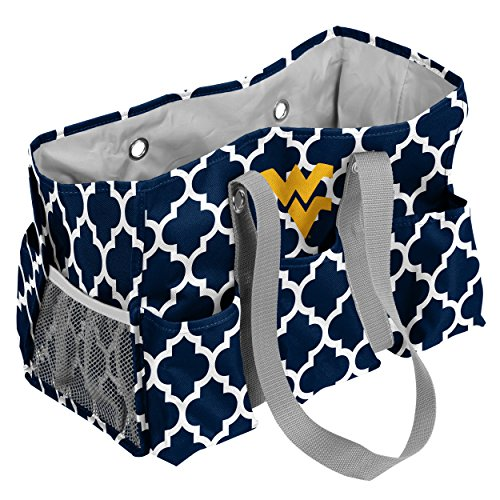 West Virginia Mountaineers Bag (Logo Brands West Virginia Mountaineers Patterned Multi-Pocketed Junior Caddy)