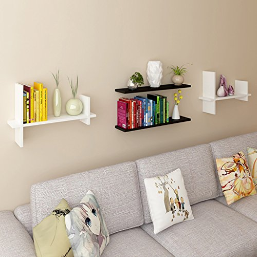 Wall Shelf, TV Wall Decoration Display, Living Room Wall Floating Rack, Storage Rack, 60cm 21cm 40cm (Color : White) by Boyang (Image #2)
