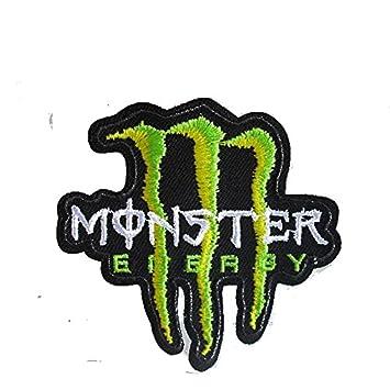 coolpart 2pcs monster energy logo Yamaha Kawasaki Moto Corss Racing extrema Deporte Chaqueta Camiseta parche parches de perfecto: Amazon.es: Hogar