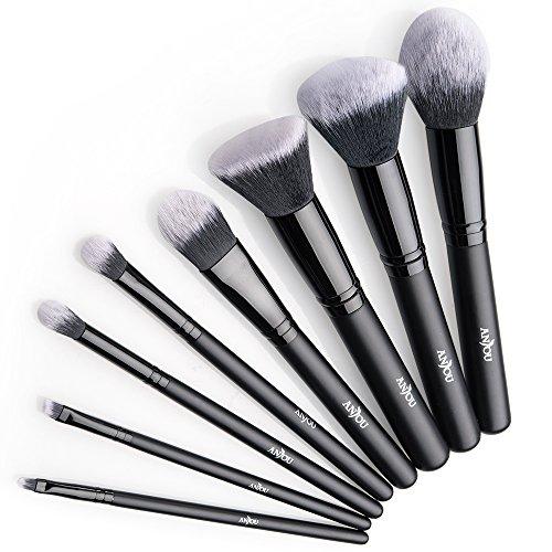 🥇 Anjou Brochas Maquillaje Profesional 8 Piezas