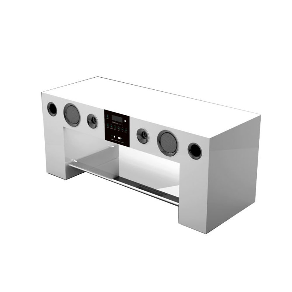 Nesx Ne780b Meuble Tv Hifi Amplifi Bluetooth Blanc Amazon Fr Tv  # Meuble Tv Avec Home Cinema Integre