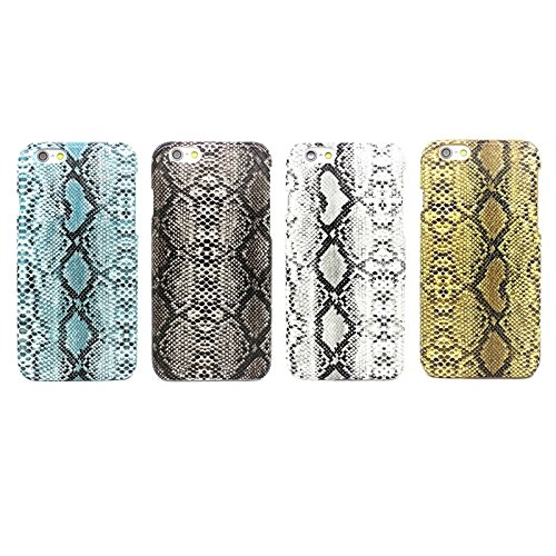 Mxnet Snakeskin Pattern Paste Skin Hard Case für iPhone 6 Plus & 6S Plus rutschsicher Telefon-Kasten ( Color : White )