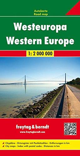 Westeuropa, Autokarte 1:2.000.000, Freytag Berndt Autokarten (Englisch) Landkarte – Folded Map, 8. August 2018 Freytag-Berndt und Artaria KG 3707907554 Belgien Belgien / Landkarte