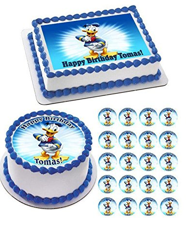 DONALD DUCK - Edible Cupcake Toppers - 1.8