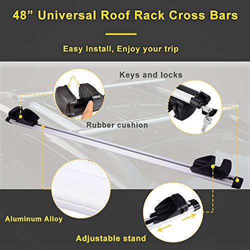 Led Kingdomus Universal Cross Bars Roof Rack Adjustable