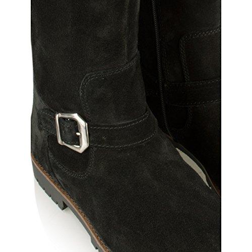 Caprice Jackson Womens Impermeable Botas De Montar A Caballo 004. BLACK SUEDE
